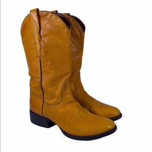 Dan Post Leather Mustard Boots